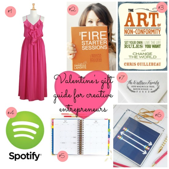 valentine's day gift guide for creative entrepreneurs